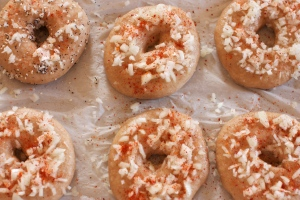 bagels with toppings