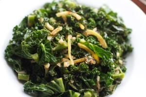 kale with preserved lemon rind