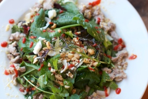 Winter Greens with Warm Thai Dressing