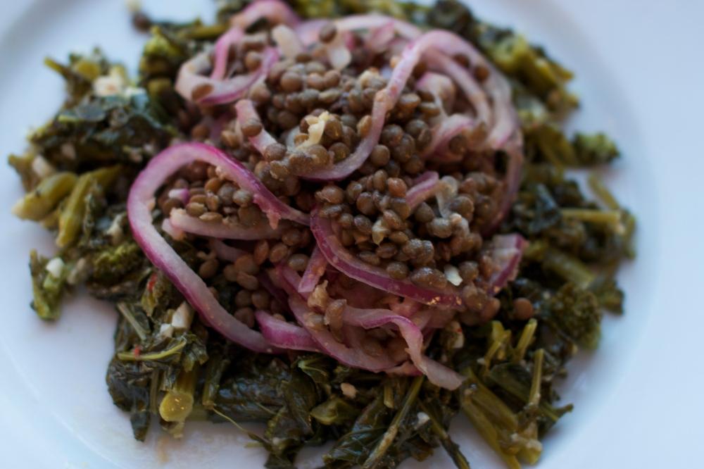 Warm Lentil and Broccoli Raab Salad