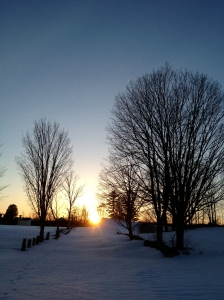 Sunset Cross-country Ski on Corn Snow to Canterbury Shaker Village