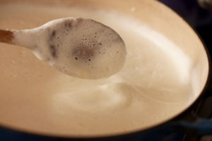froth on soybean milk