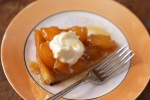 A slice of maple tarte tatin