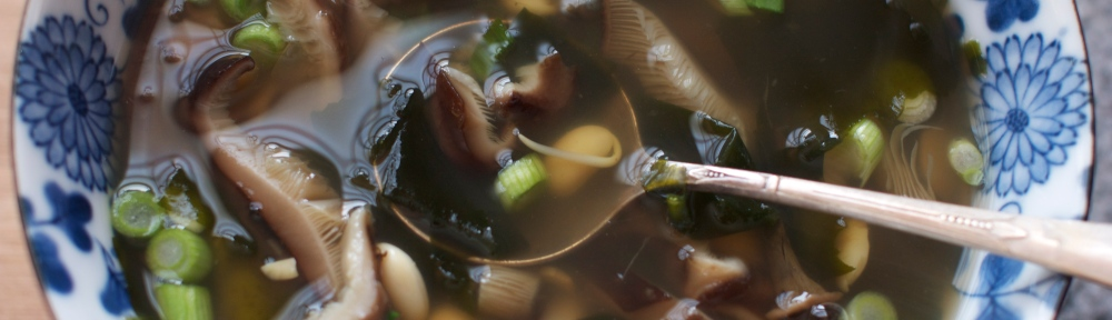 Sprouted Soybean and Shitake Soup