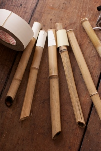 bamboo posts for hoop house