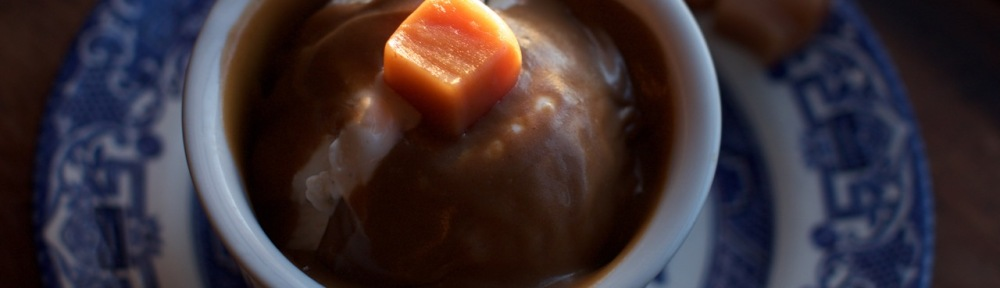 Caramel and Caramel Coffee Sauce on ice cream